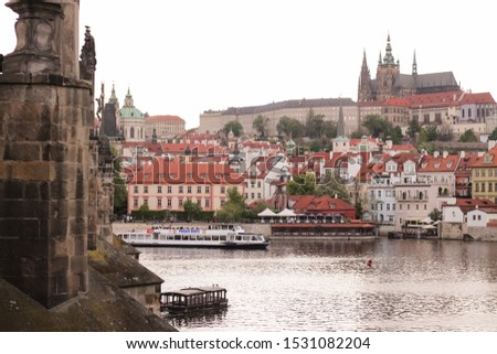 the Czech caste from the Black Bridge in Prague. #1531082204