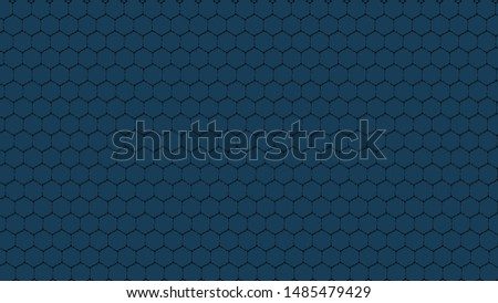 The 3d rendering of Abstract hexagonal background with hexagons effect