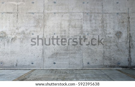 The 3D rendering of empty concrete wall room