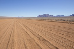 The D707, scenic dirt road in the desert  through the Tiras mountains, Namibia