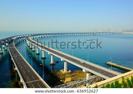 The Dalian Xinghai Bay cross-sea bridge #636952627