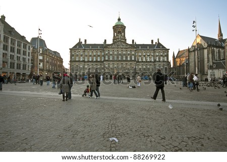 The damsquare in Amsterdam the Netherlands
