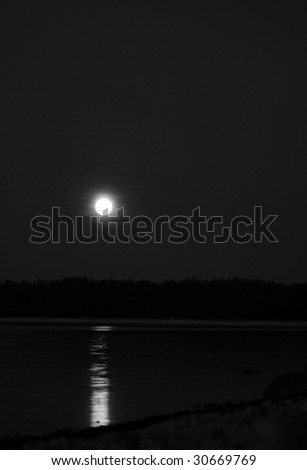 The dark moon and seaside