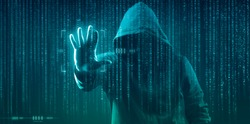 the dark web hooded hacker