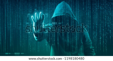 the dark web hooded hacker  #1198180480