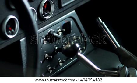 The dash of a sports car #1404054182