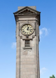 The Davis Clock in Jephson Gardens, Royal Leamington Spa. Built in 1925, it was named after William Davis who was a former mayor.