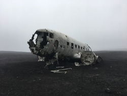 the dc plane wreck in south iceland