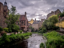 The Dean Village is a tranquil green oasis on the Water of Leith, only five minutes walk from Princes Street in the centre of Edinburgh, Scotland