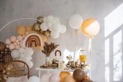 The decor of the birthday