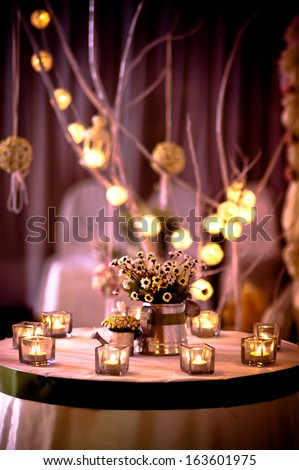 The Decoration In A Wedding Ceremony