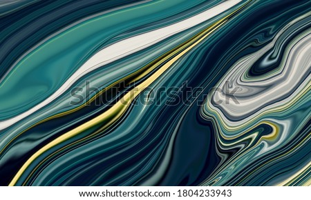 The deep dark ocean-ART. Natural gray color: metallic, silver, steel, iron. Swirls of marble and the ripples of agate. Natural pattern. Abstract FANTASIA illustration Stok fotoğraf ©