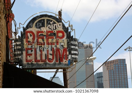 The Deep Ellum neighborhood is the historic center of music in Dallas and a major tourist destination. #1021367098
