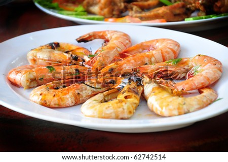 the delicious of grilled shrimp