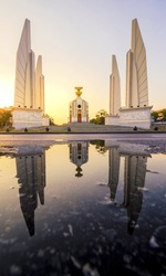 The Democracy Monument is a public monument in the center of Bangkok, capital of Thailand.It occupies a traffic circle on the wide east-west RatchadamnoenKlang Road, at the intersection of Dinso Road.