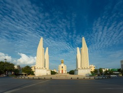 The Democracy Monument with blue sky at Bangkok,Thailand