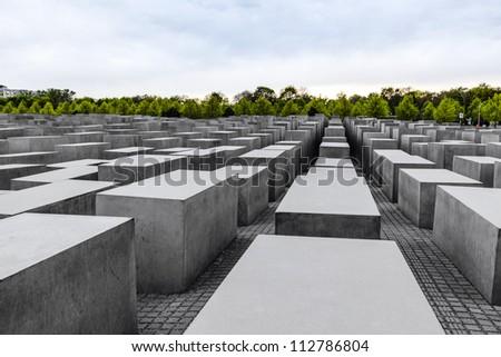 The Denkmal fur die Juden ermordeten Europe (Memorial to the Murdered Jews of Europe), also known as Holocaust-Memorial Mahnmal at Berlin, Germany