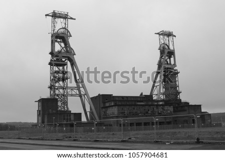 The derelict Clipstone Colliery coal mine in Nottinghamshire, England. Photo taken on March 30th 2018.