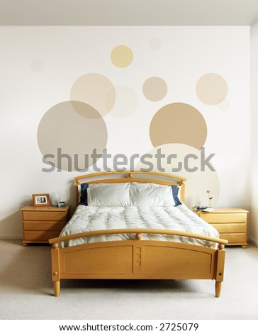 The design on the wall and on the nightstand are my own images