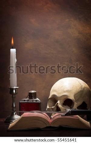 The desk of an alchemist