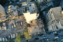 The destruction caused by the explosion in Beirut, Lebanon