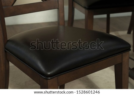 The detail of table and chairs in the dining room. #1528601246