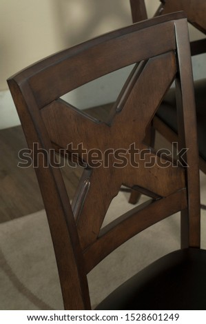 The detail of table and chairs in the dining room. #1528601249