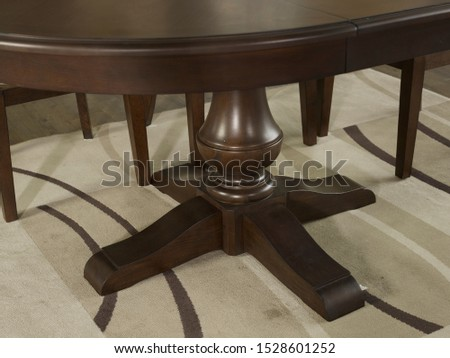The detail of table and chairs in the dining room. #1528601252