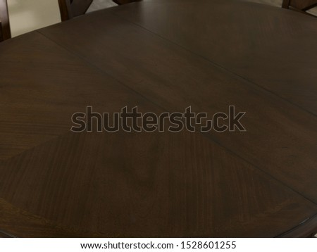 The detail of table and chairs in the dining room. #1528601255