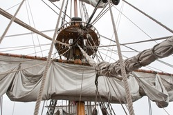 The detail of the tall ship