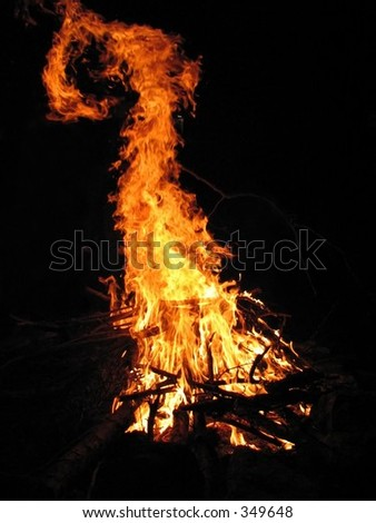 the devil's tail in the fire.