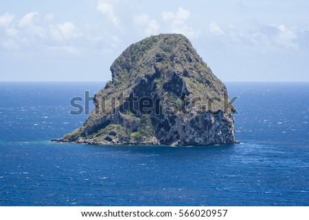 The Diamond Rock in Martinique.