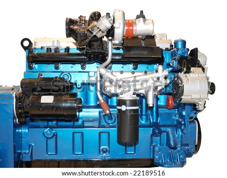 the diesel engine with many details