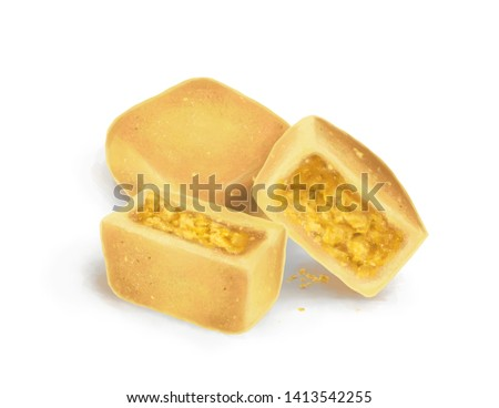 The Digital Painting of Taiwanese Pineapple Cake with Egg Yolk in Realism Art Style