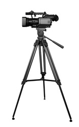 The digital video camera on the tripod