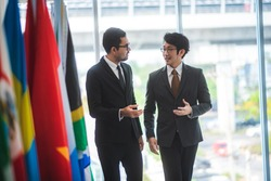 the diplomat relationship between countries. Diplomatic relations And international business partnership