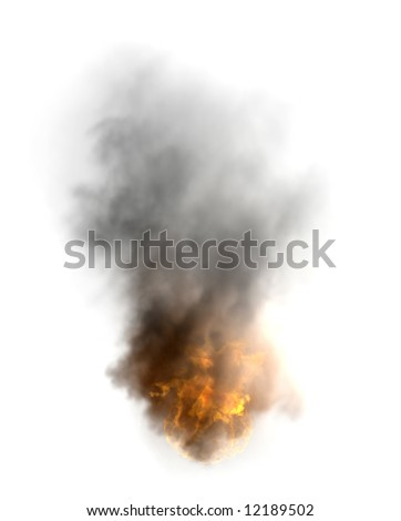 the  disaster fire image isolated rendering