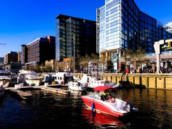 The District Wharf is the first major development along the water in this quadrant of Washington DC.  It's the biggest, most ambitious waterfront development in the US, opened in October of 2017.