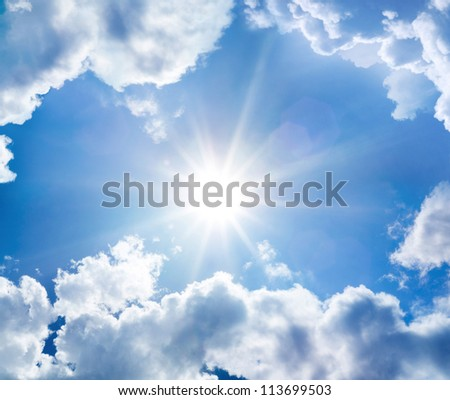 The divine sky - stock photo