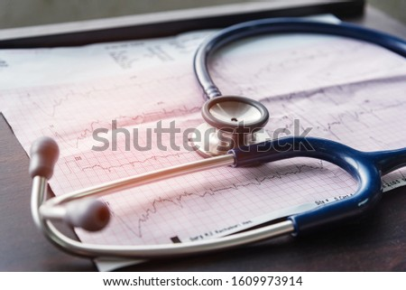The doctor is diagnosis with EKG