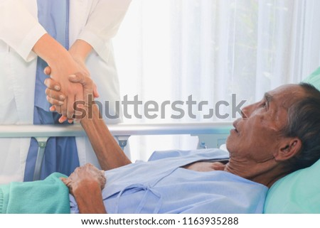 The doctor visits the sick, encourage #1163935288