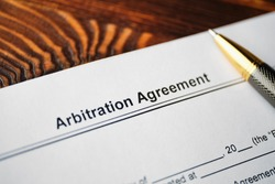 The document Arbitration Agreement is ready for signing.