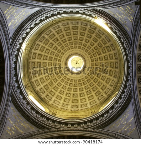 The dome of Santa Maria in Campitelli, Rome, Italy