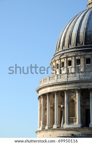 The dome of St Pauls Cathedral in London