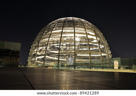 The dome on the roof of the Reichstag, Berlin - Germany