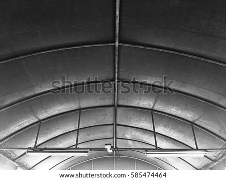 The Dome Roof With Canvas Curve Shape. #585474464