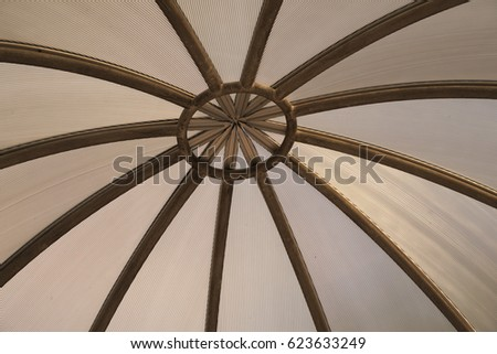 The dome roof with leading lines pattern
