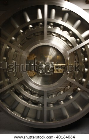 The door of a bank vault.
