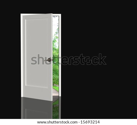 The door open in the real world - stock photo