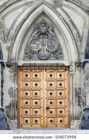 The doorway of the East Block, Parliament Buildings, Ottawa